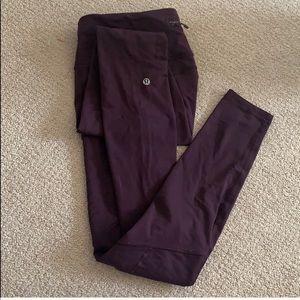 GUC Lululemon Invigorate Purple Leggings Size 4